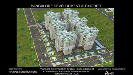Construction of 2 BHK Housing Project ( Phase-02) at Konadasana Pura Village in Bangalore East  on Turnkey Basis.